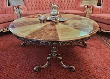 Round Table - metal, marble - 1960