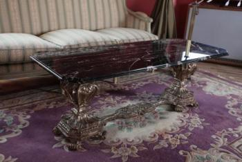 Coffee Table - solid wood, marble - 1920